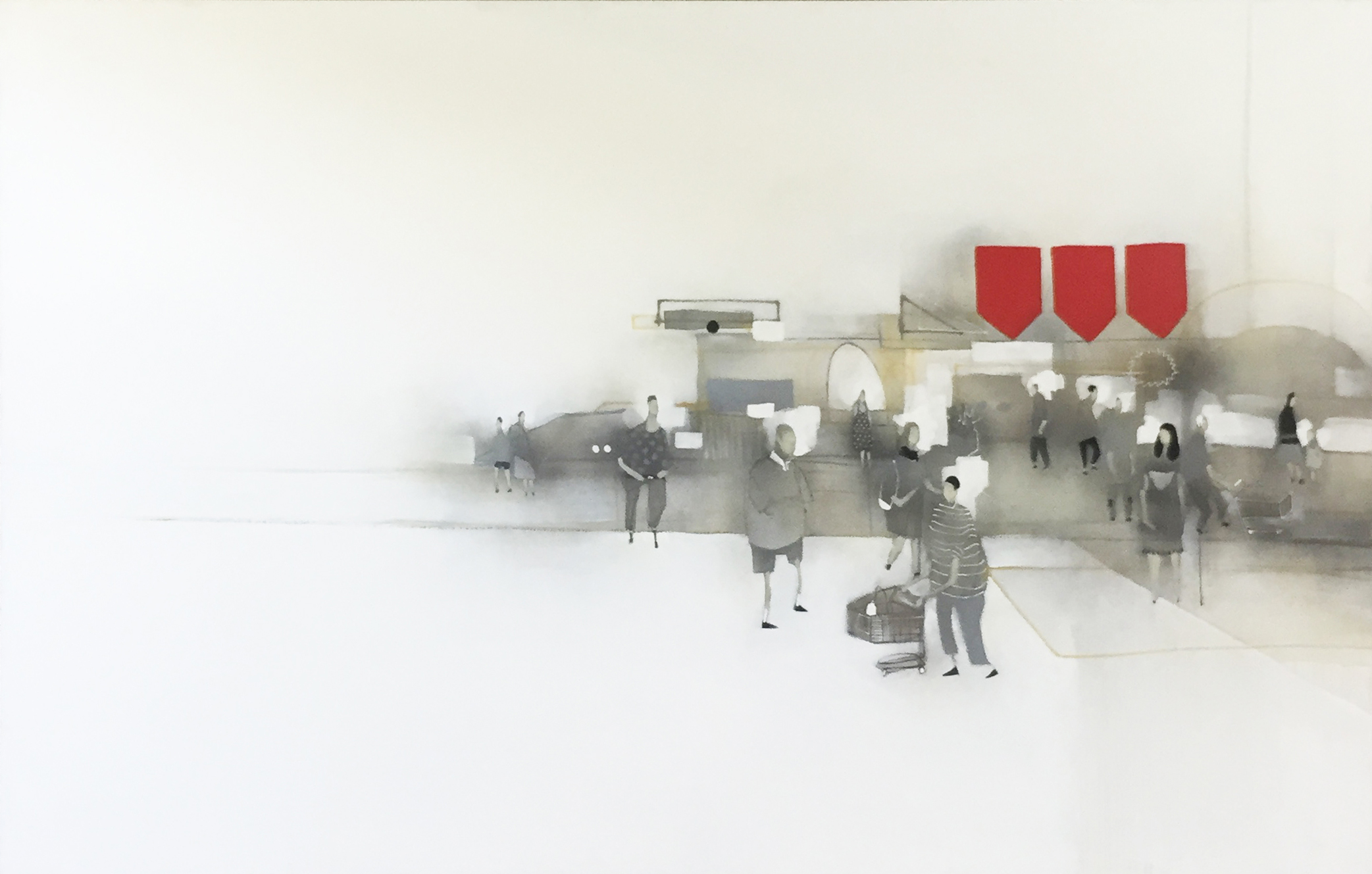 Anthony Lister, Supermarket XL 170 x 270 cm, available