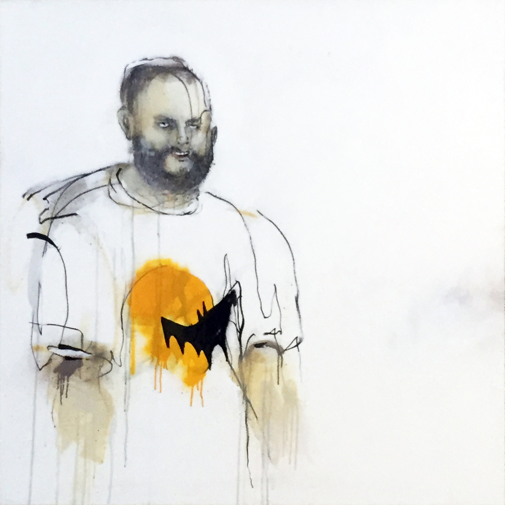 Anthony Lister, Third Cup of Fiasco' 120 x 120 cm, available