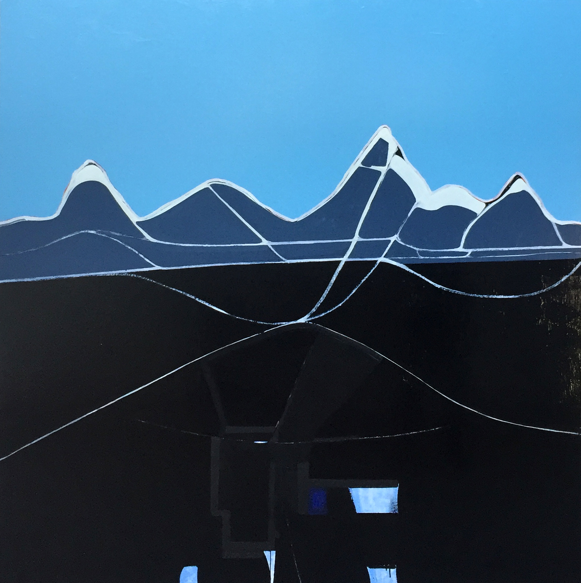 Jeremy Kibel, Mount Cook 180 x 180 cm, available