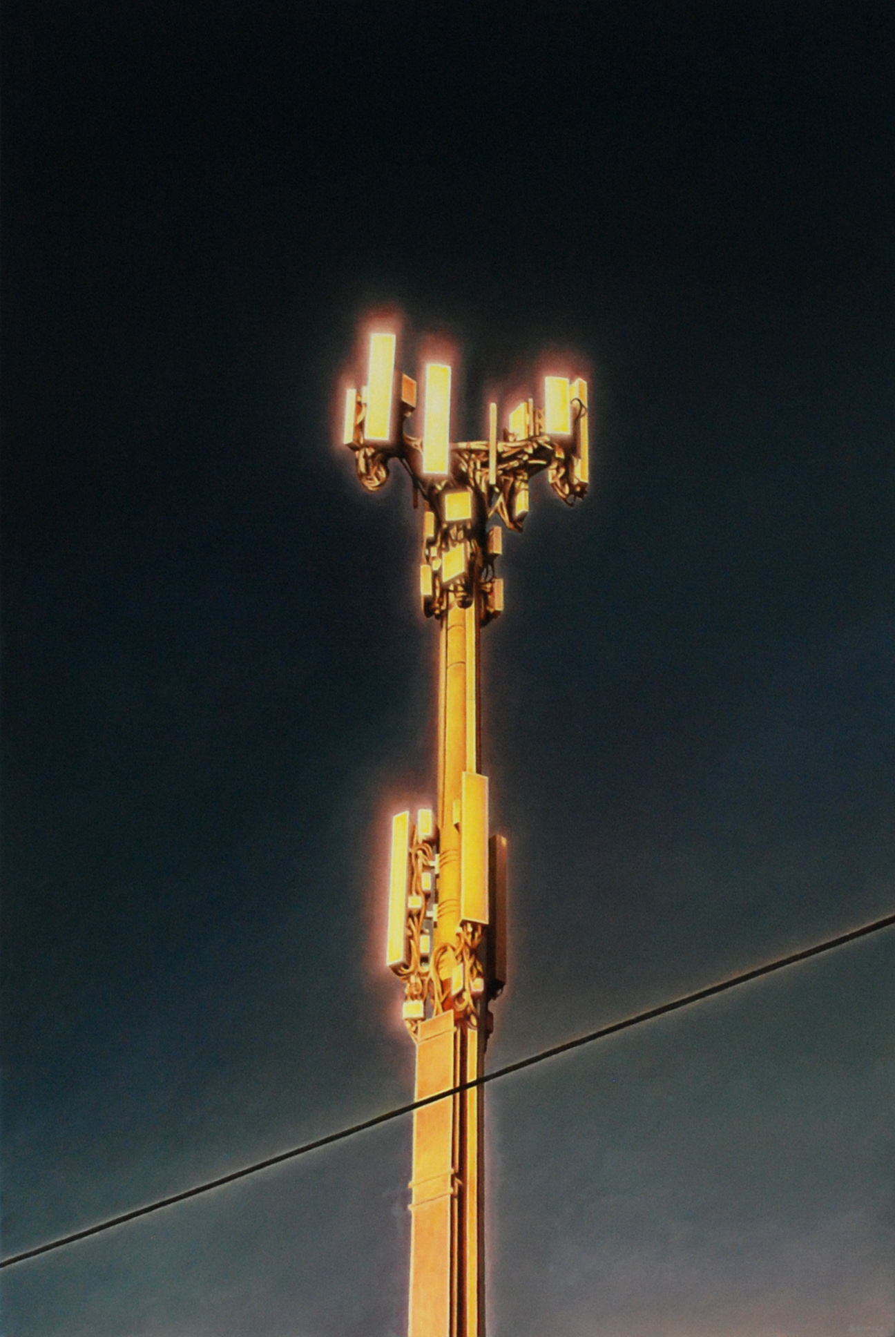 James Bonnici 'Tower 2' oil on linen, 41 x 61 cm, available