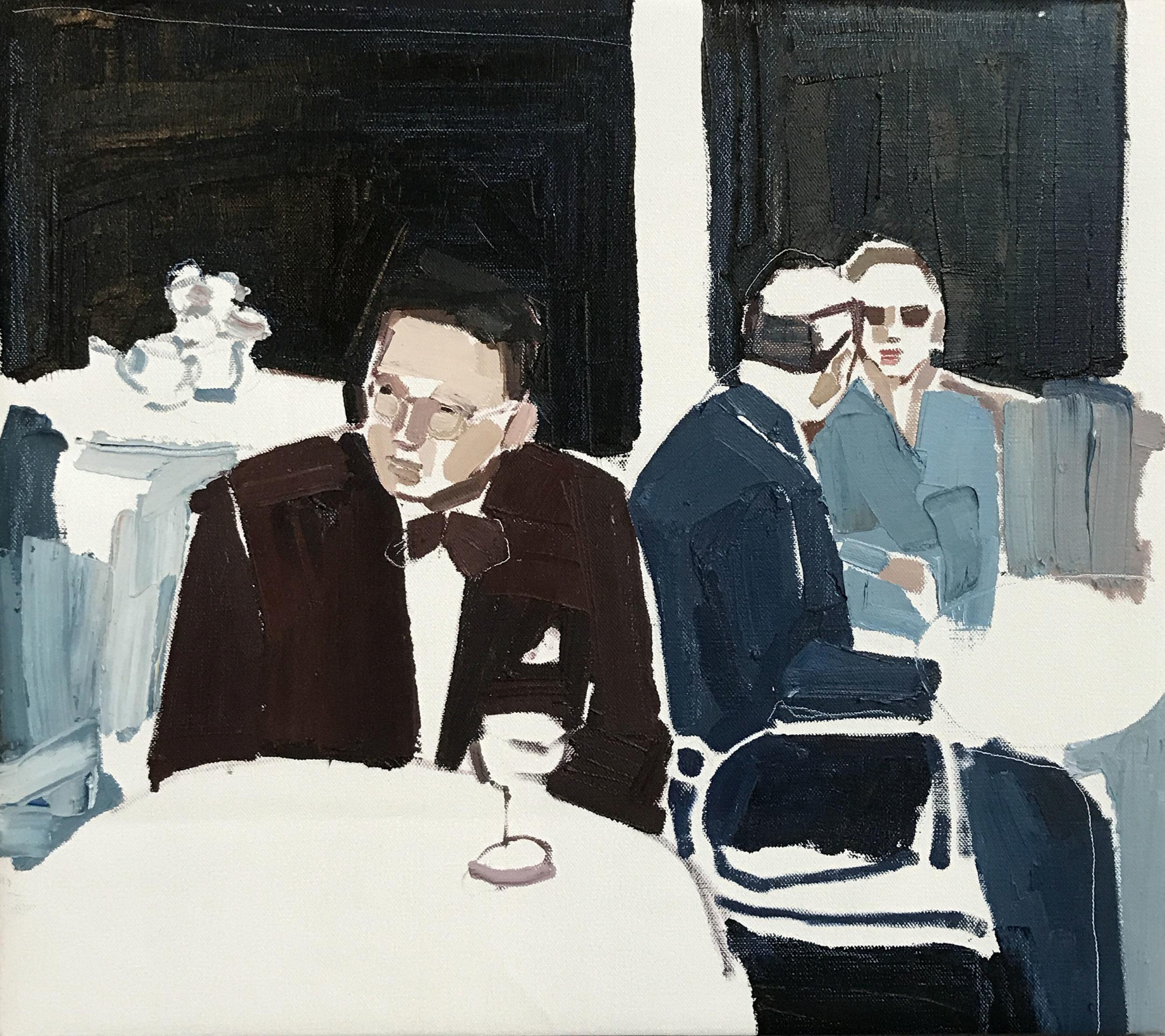 Clara Adolphs, Friday's Table 67 x 61 cm, oil on linen