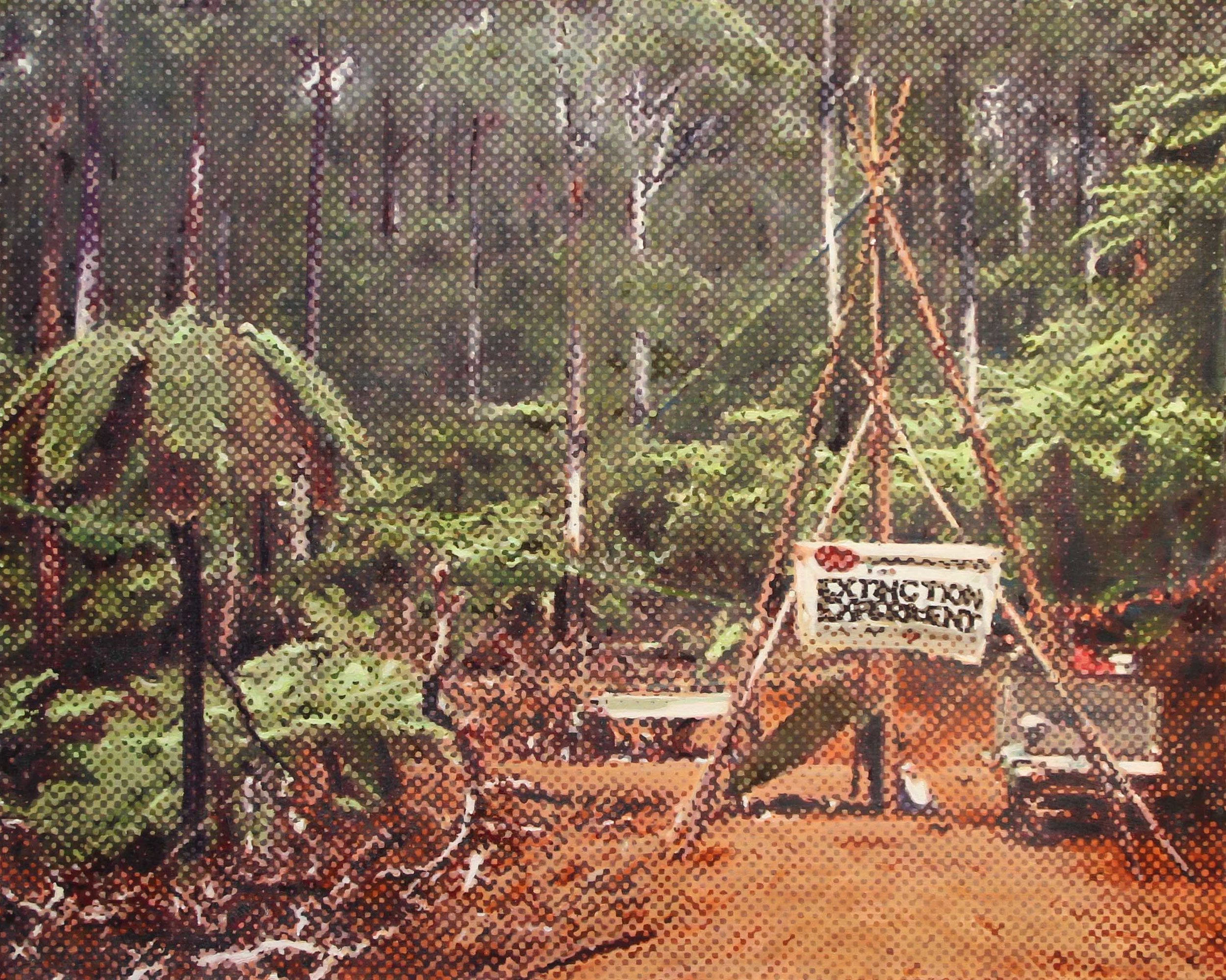 Marc de Jong, Forest Blockade oil on canvas, 91 x 80.5 cm, available