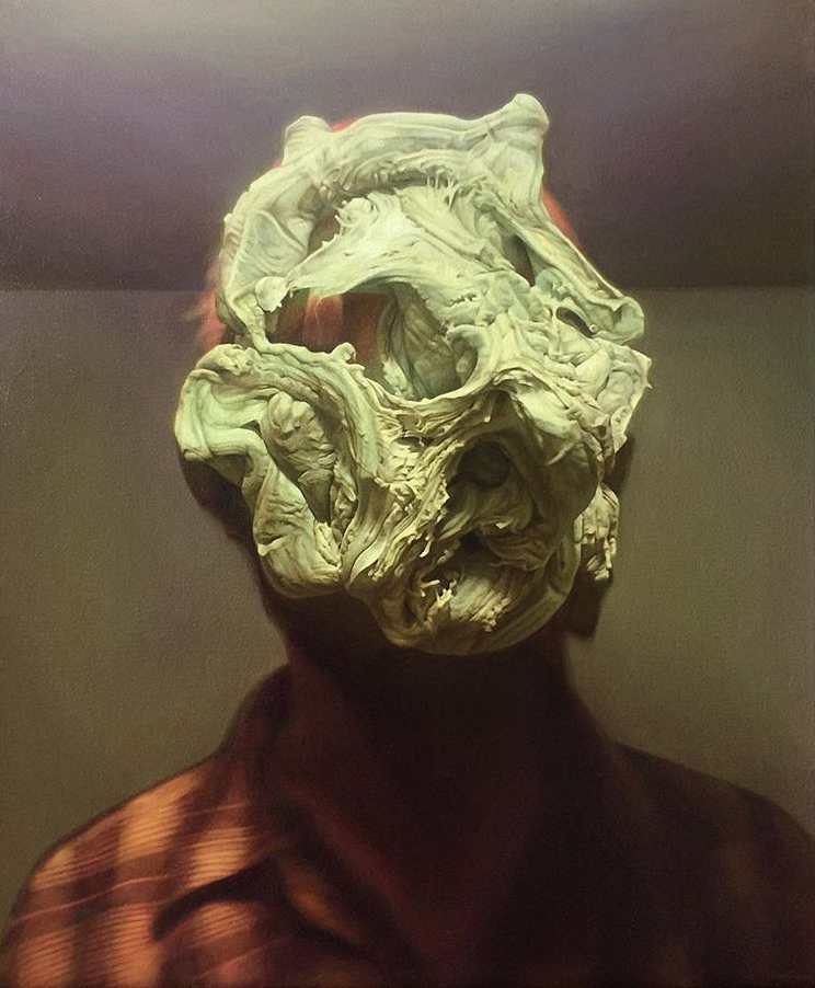 James Bonnici, Head Variation in Green oil on linen, 51 x 61 cm