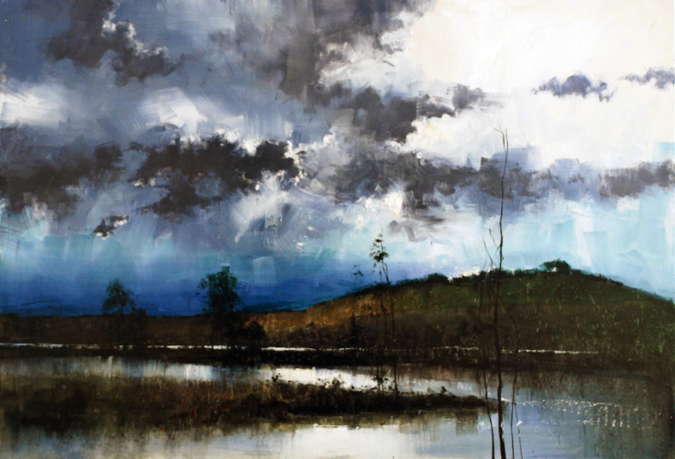 Herman Pekel, Yarra (untitled) 2018 oil on canvas, 153 x 107 cm, available