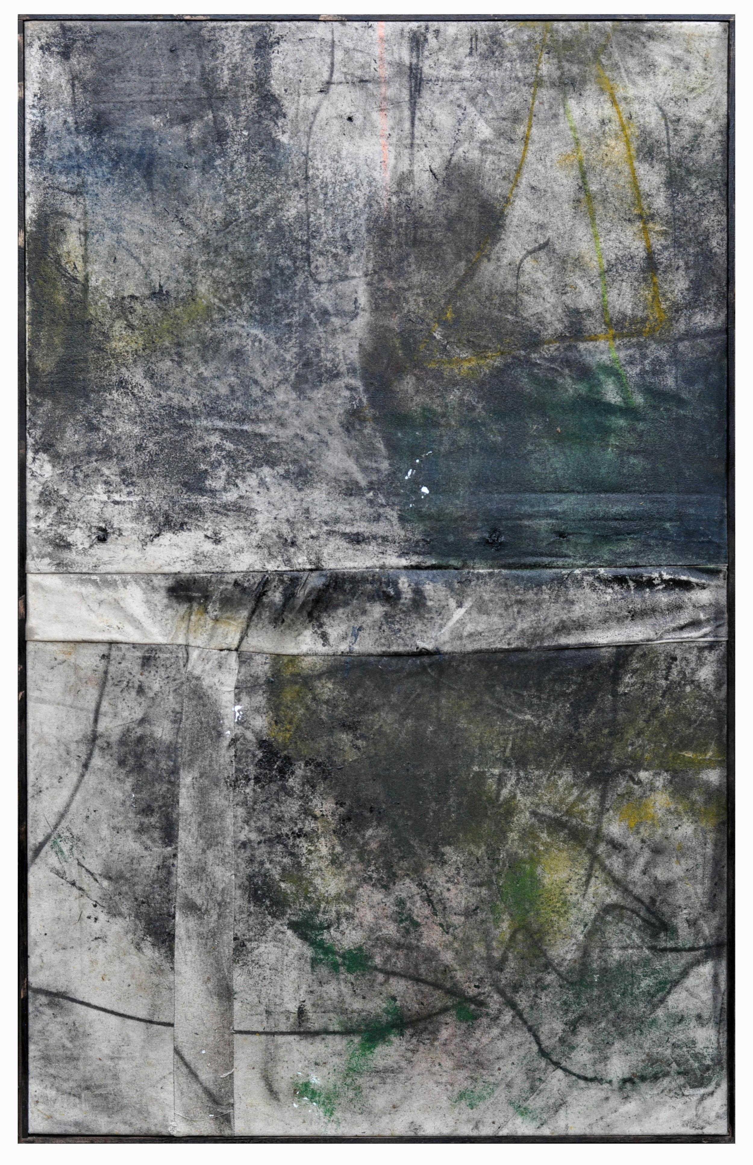 Ryan McGennisken, Pasta 78 x 124 cm, spray paint, thred, on canvas, oak frame, available