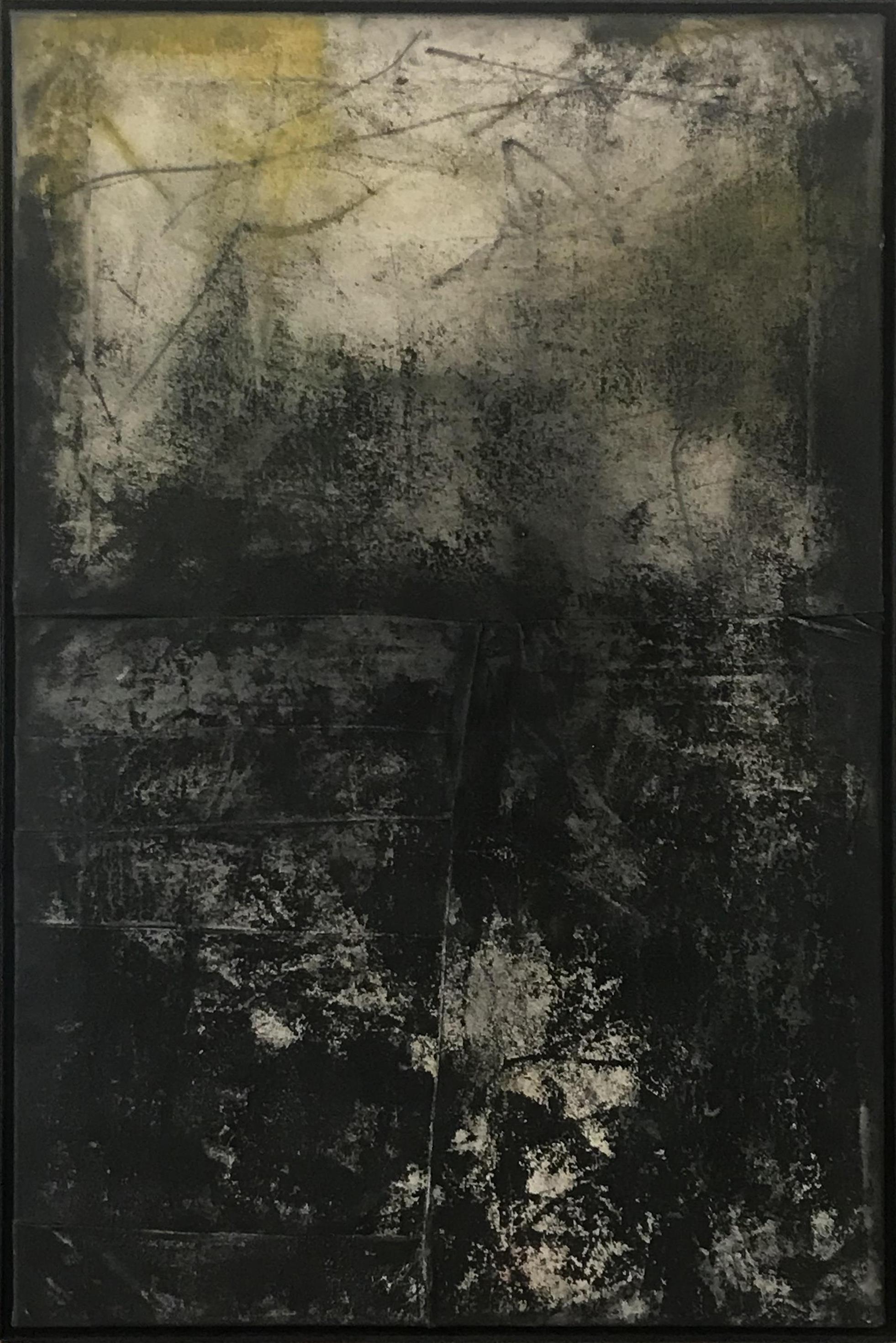 Ryan McGennisken, Smoke Alarm 78 x 122 cm, mixed media on canvas, available