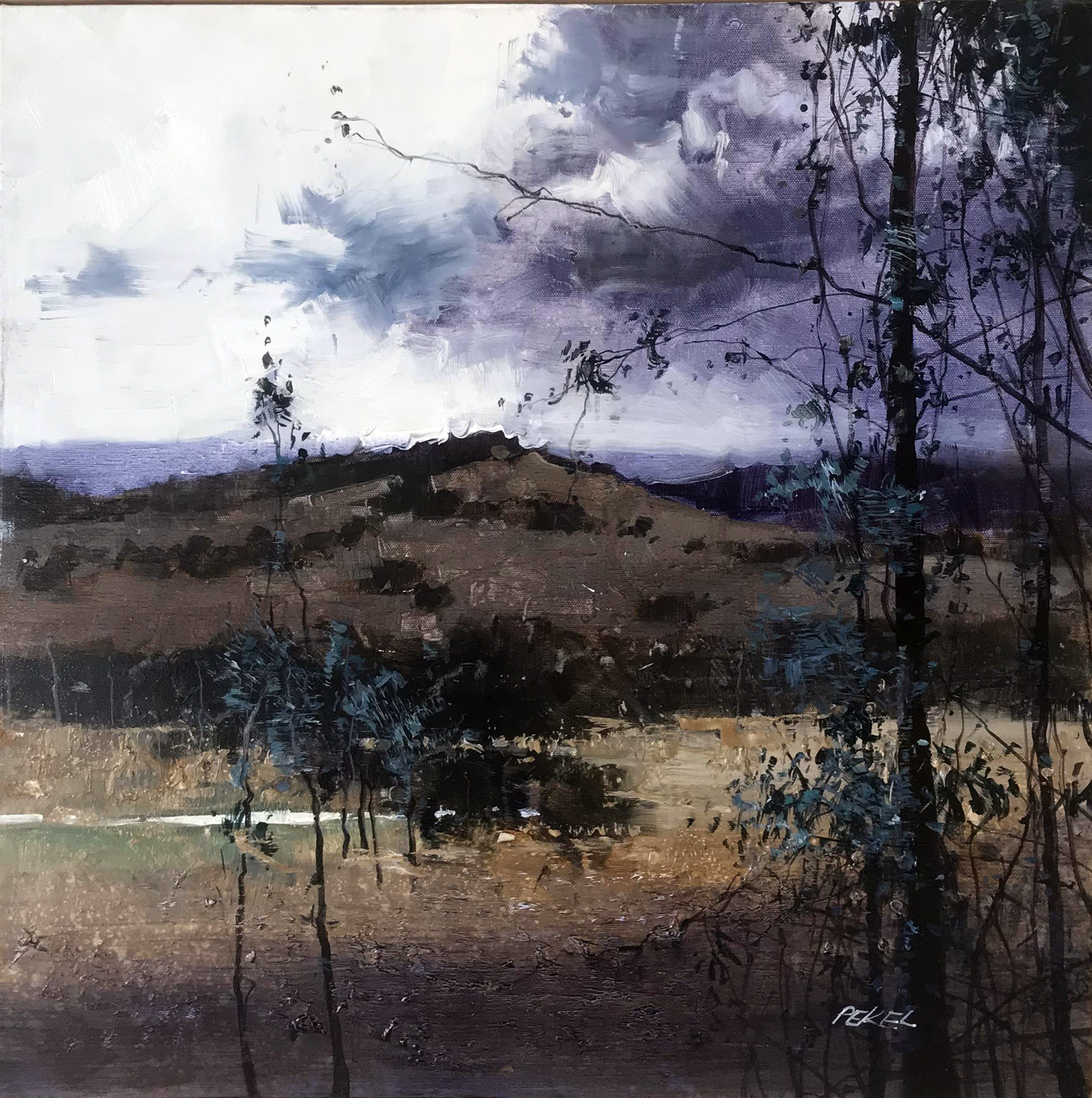 Herman Pekel, Snowy Mountains 5 oil on canvas, 61 x 61 cm, available