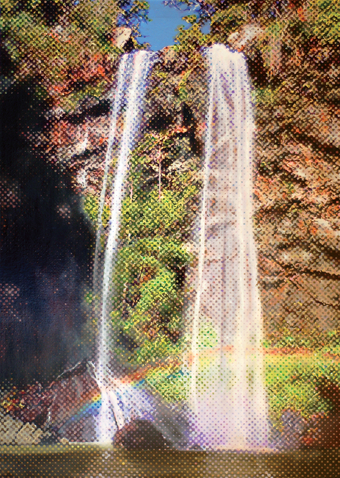 Marc de Jong, Waterfall oil on canvas, available