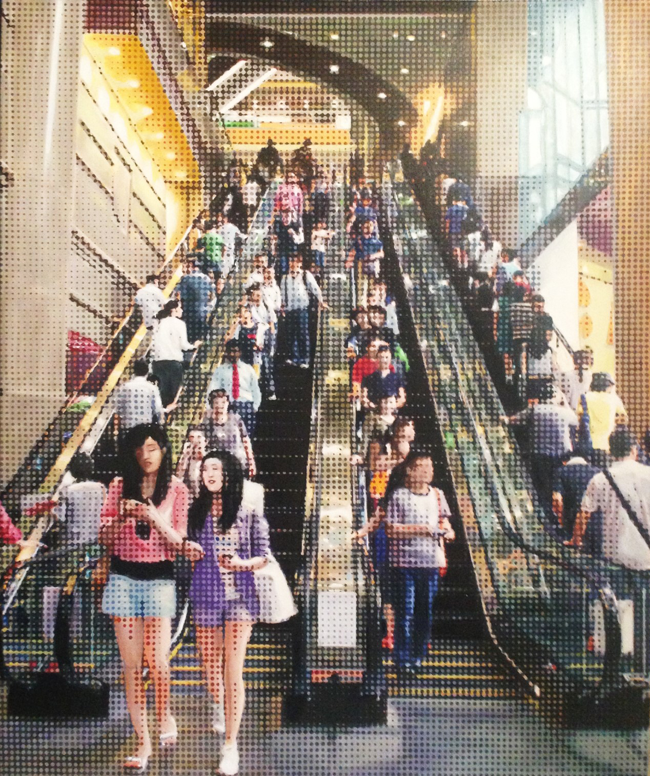 Maec de Jong, Escalators oil on canvas, 170 x 140 cm, available