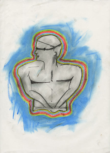Phelps #10  ,  2009  colored pencil and pastel on paper 14 x 11 inches