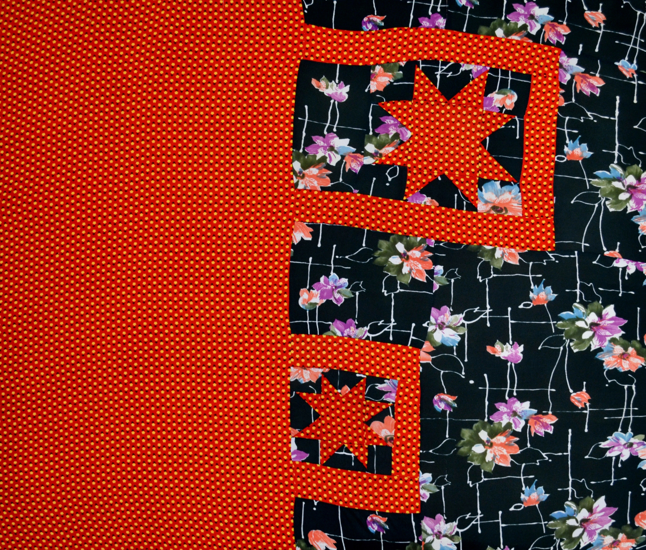 Shooting Stars   , 2011 sewn fabric 42 x 50 inches  Artist Collection