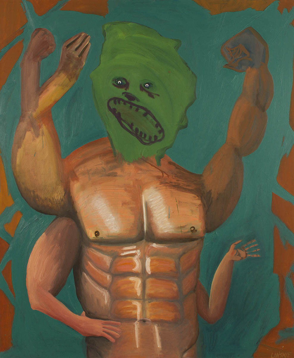 The Passive Aggressive  , 2012 oil on fabric  42 x 58 inches