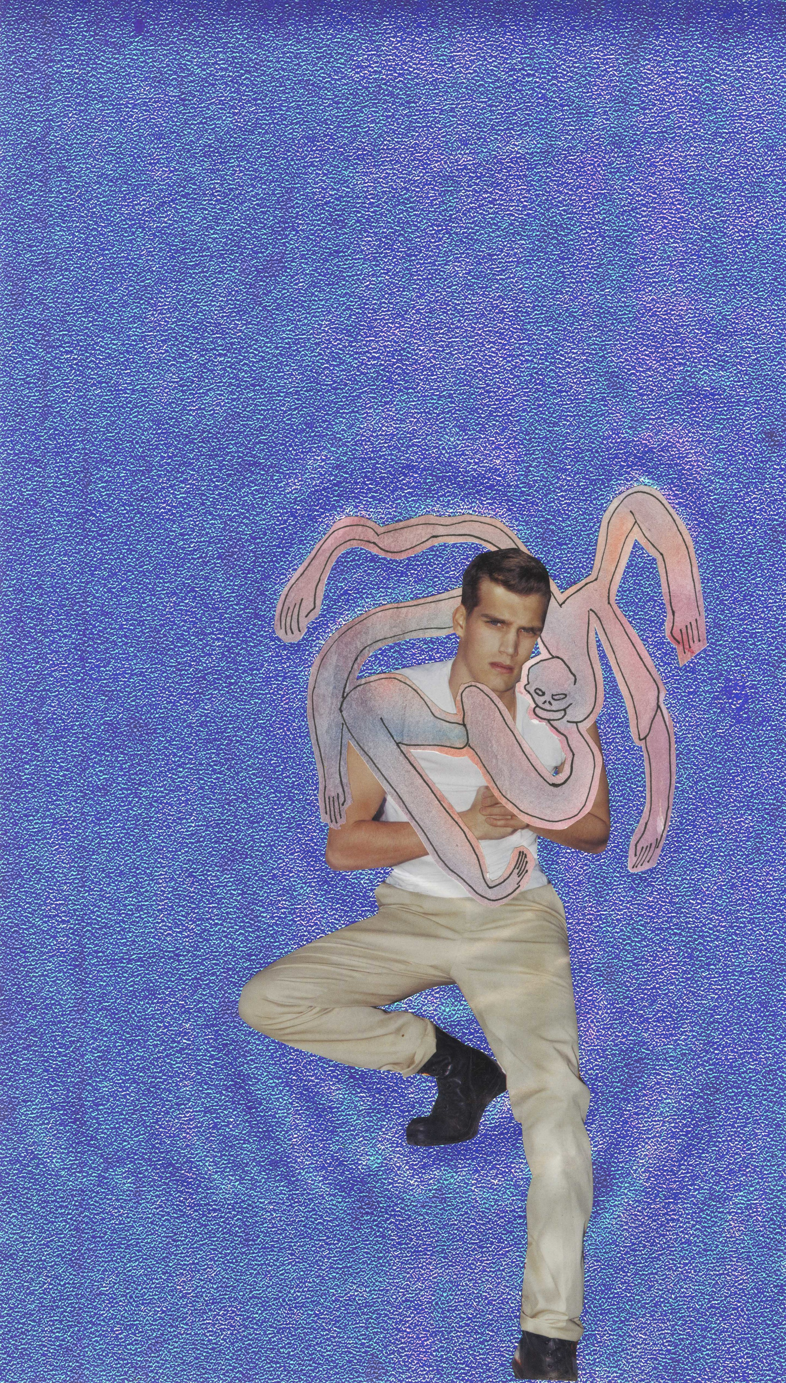 Be My Boyfriend  , 2013 watercolor and collage on paper 18 x 8 inches Private Collection, New York