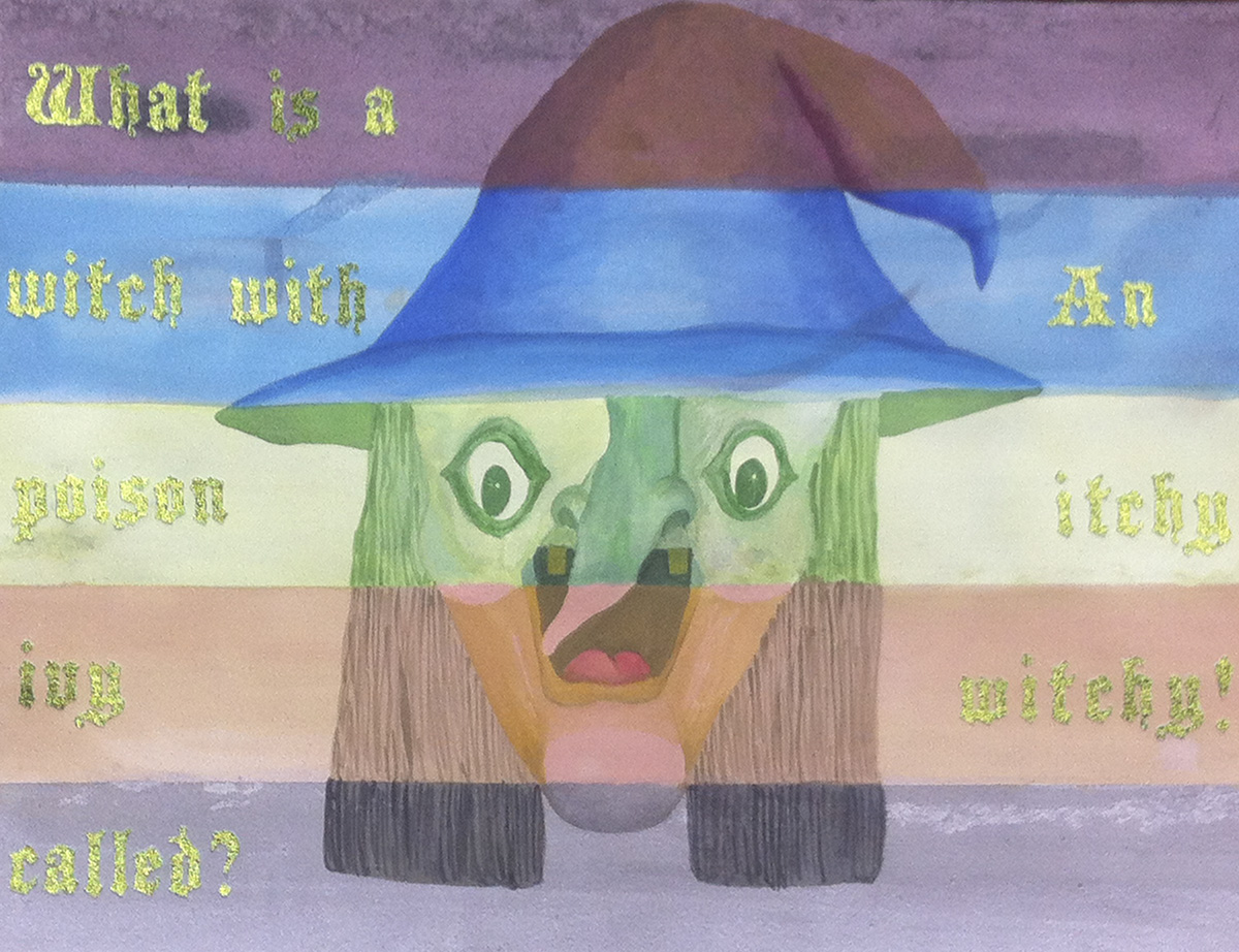 Witch #1  , 2014 watercolor and collage on paper 18 x 24 inches