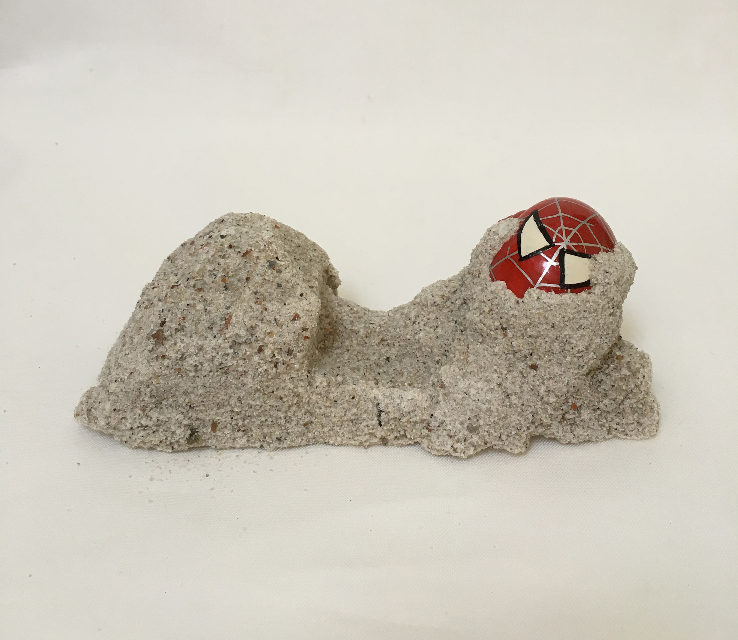 Untitled (Hermit-Man Remains)  , 2015 3.5 x 2 x 2.5 inches hand painted hermit crab shells, plaster and sand