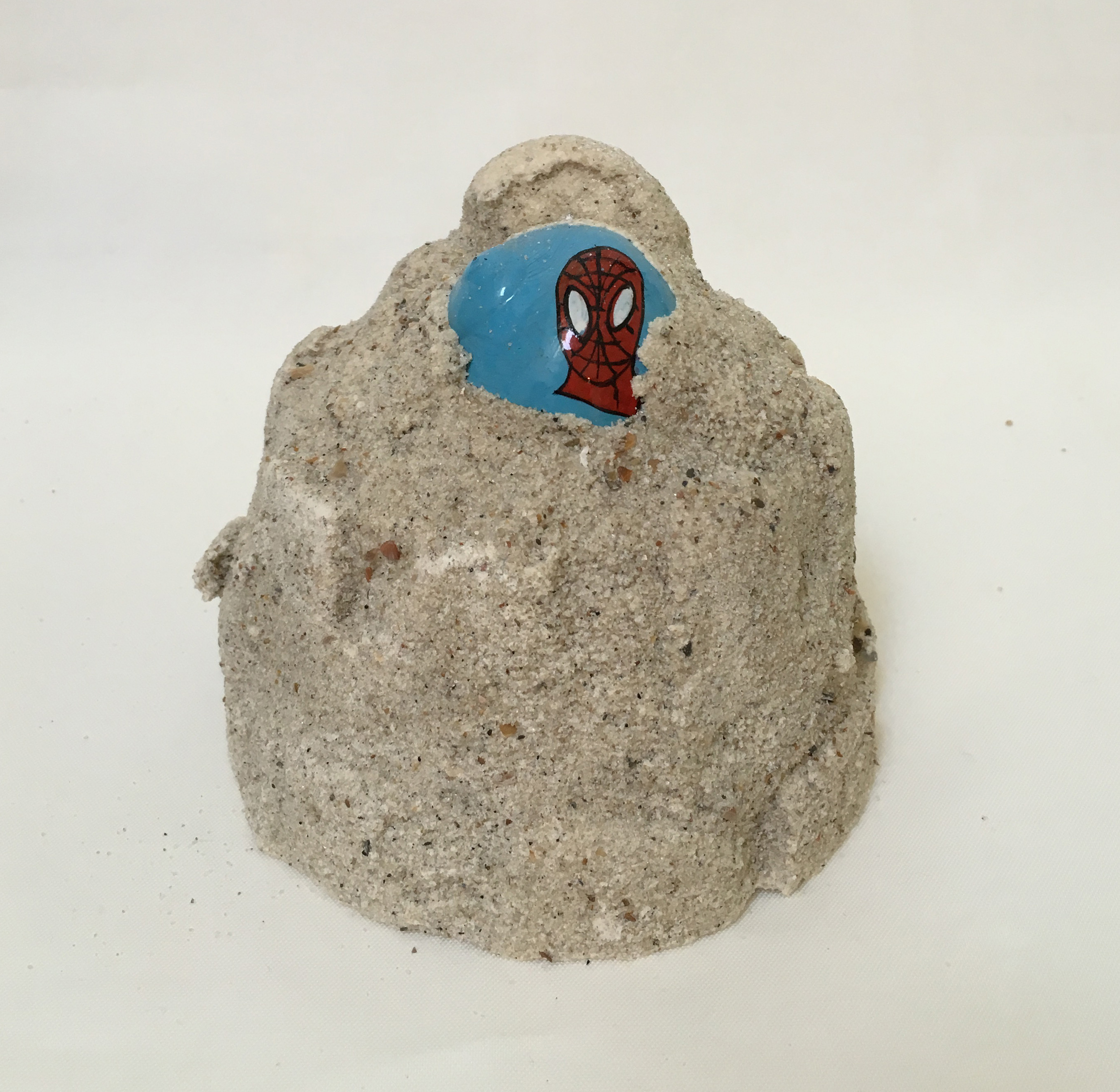 Untitled (Hermit-Man Remains)  , 2015 3.5 x 3.5 x 5 inches hand painted hermit crab shells, plaster, and sand