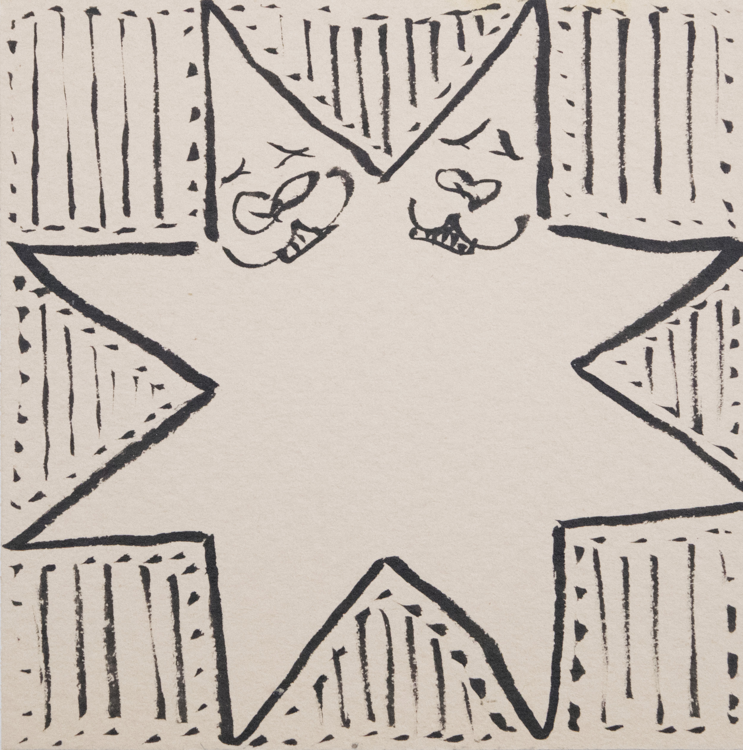 Untitled (Starmen)  , 2018 pen on paper 3 x 3 inches