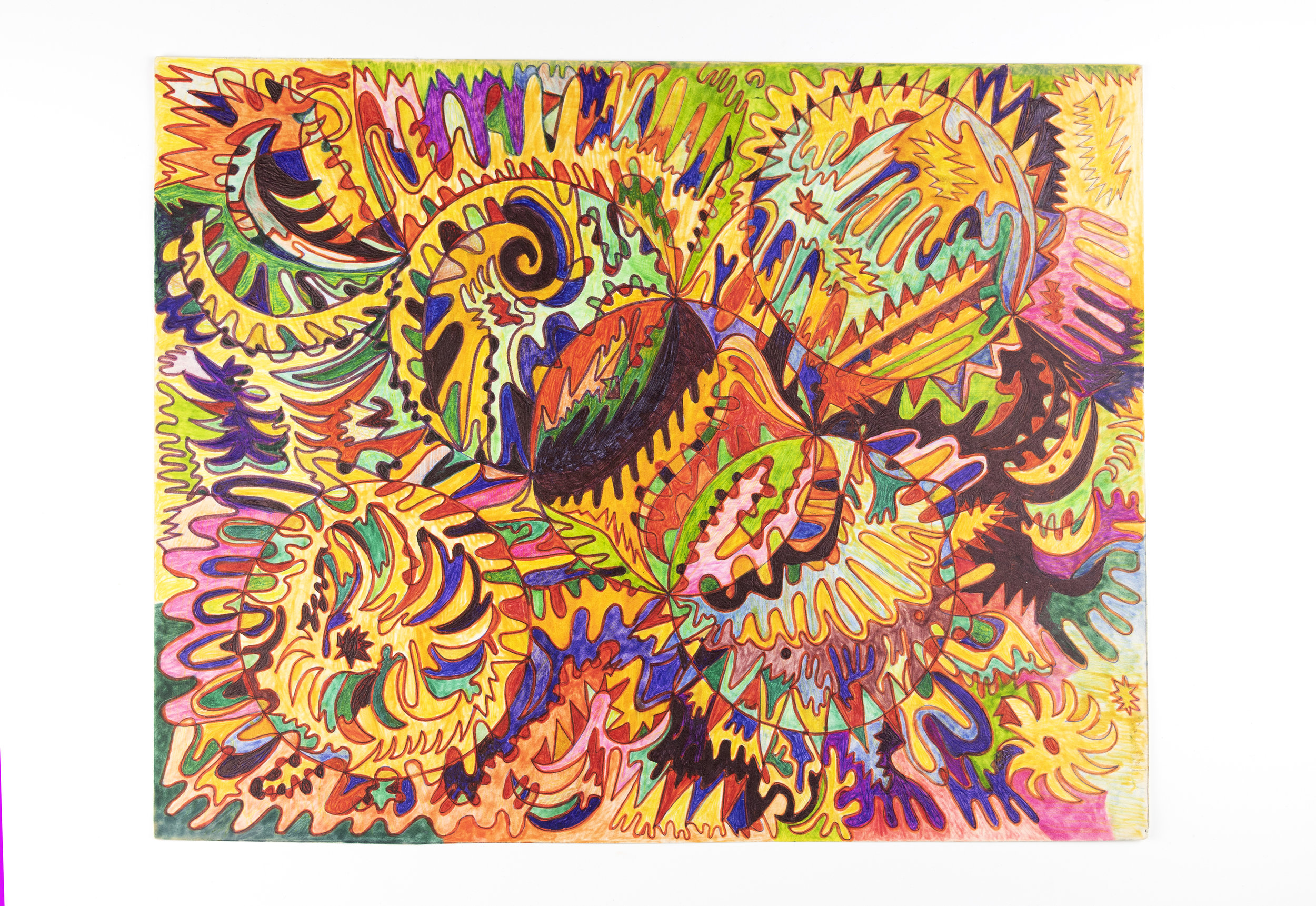 Untitled , ca. 2000's pen and marker on paper 11 x 14 inches