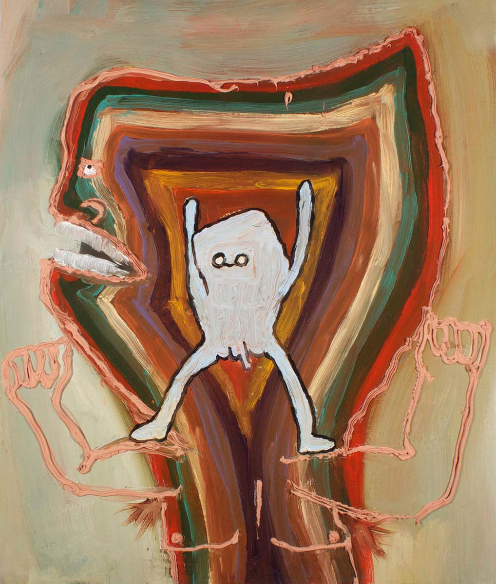 Biceptor  , 2012 oil on canvas 20 x 16 inches Private Collection, Cleveland
