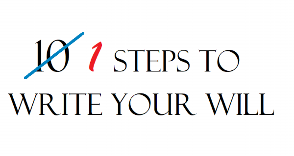 one step to write your will and trust in contra costa