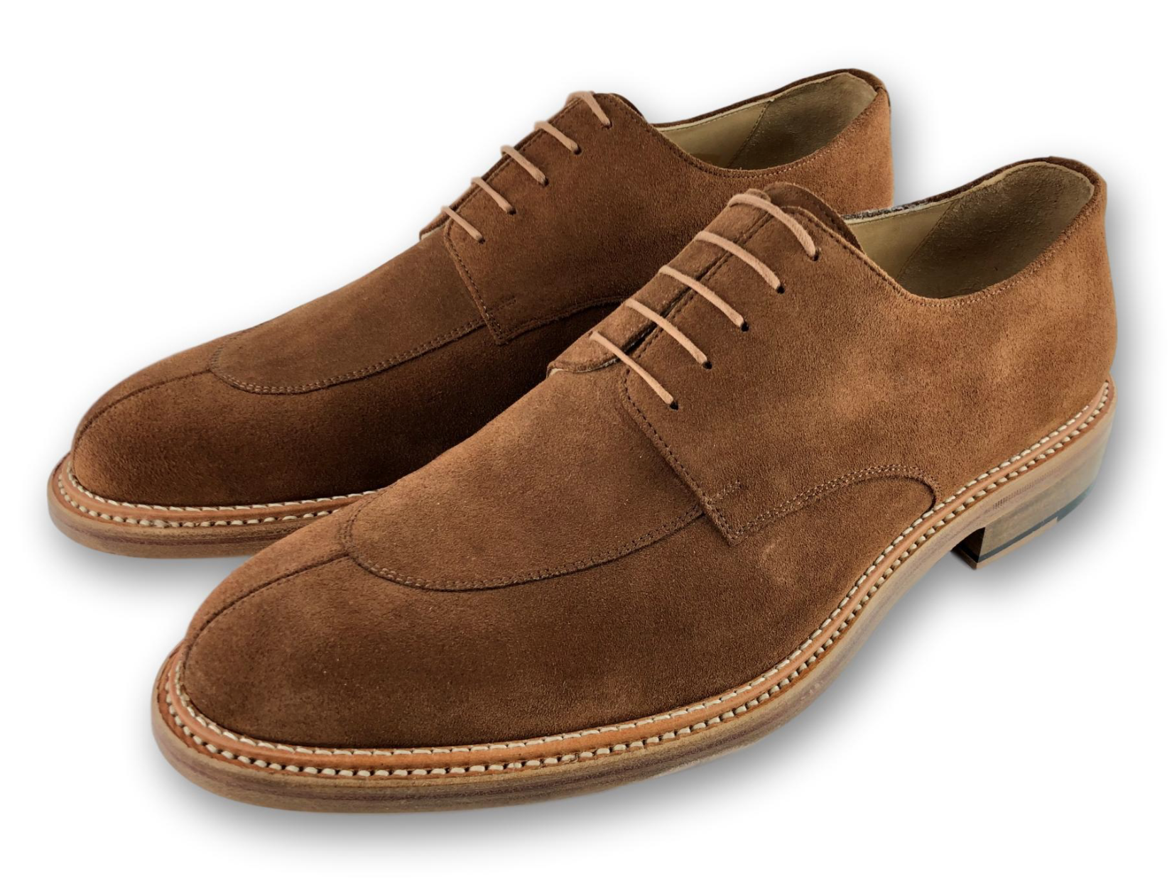 KNOXVILLE - DOUBLE STITCHED WELT - GINGER SUEDE