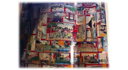 "Figure 2: ""The True Views of Tokyo"" by Utagawa Hiroshige. Koyama-Richard, Brigitte. One Thousand Years of Manga. 1st ed. Flammarion: Flammarion, 2007. Print. 68-69."