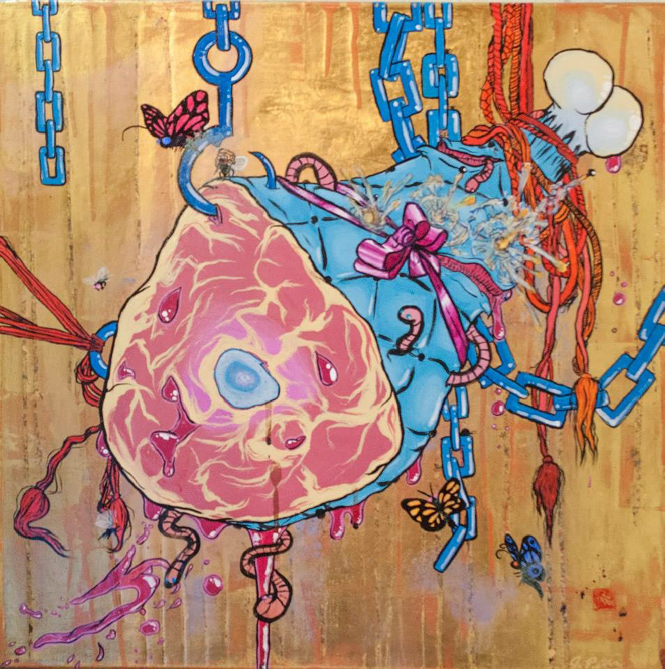 Bound Ham (The Root of All Suffering is Desire), 2013