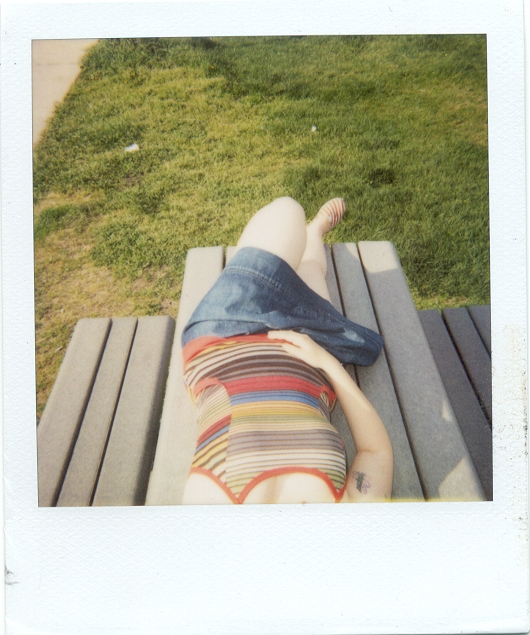 chloe on picnic table.JPG