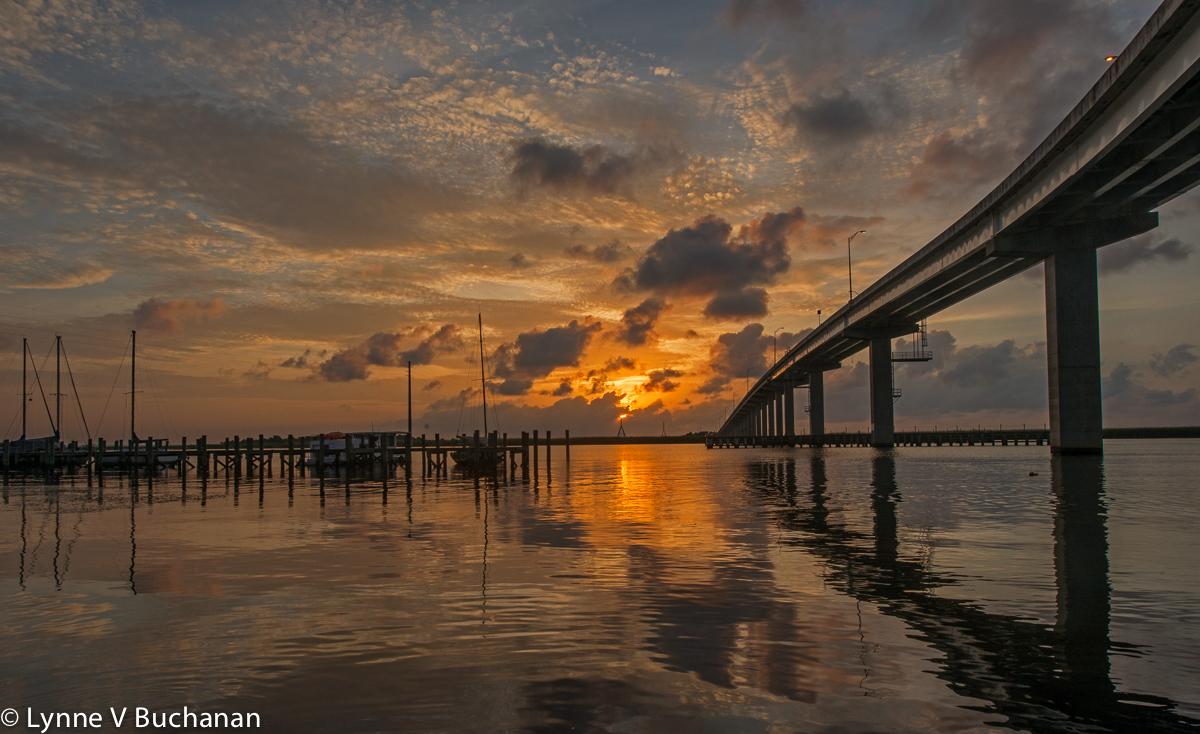 Sunrise from Under the Apalachicola Bridge