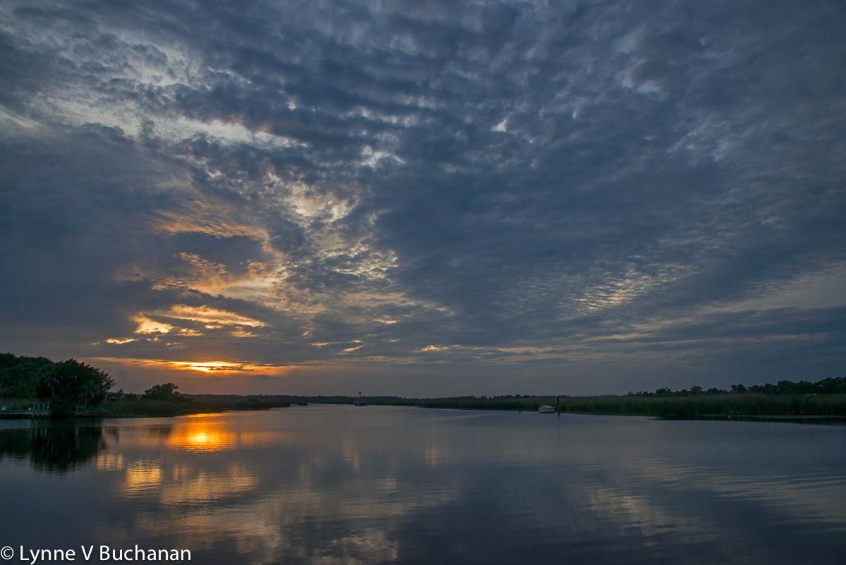 Sunset, Scipio Creek