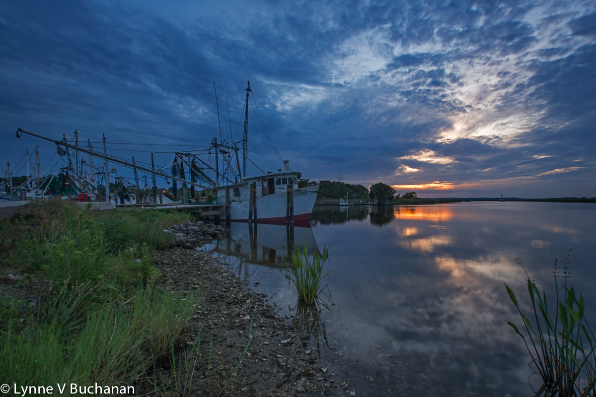 Sunset over the Marina, Apalachicola