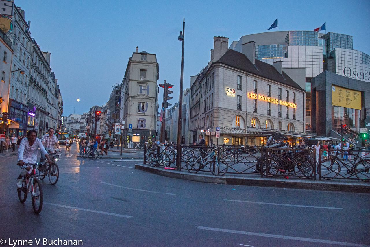 Place de la Bastille Under a Full Moon