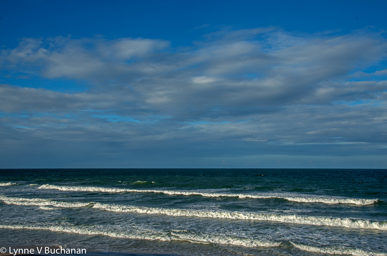 Waves Glistening in the Afternoon Light, Vilano Beach