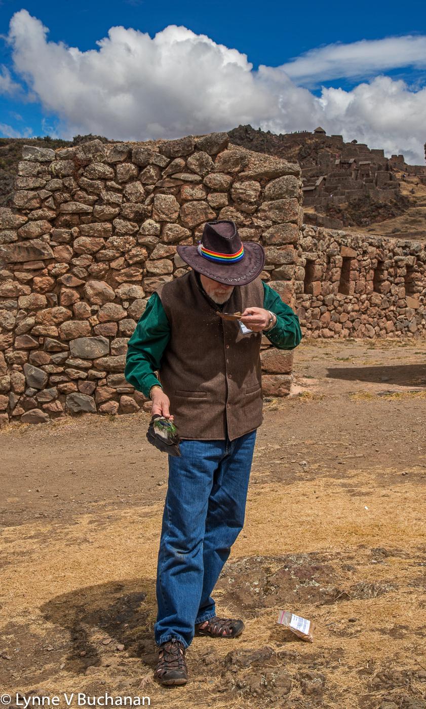 Mark Amaru Pinkham Preparing for the Condor Ceremony
