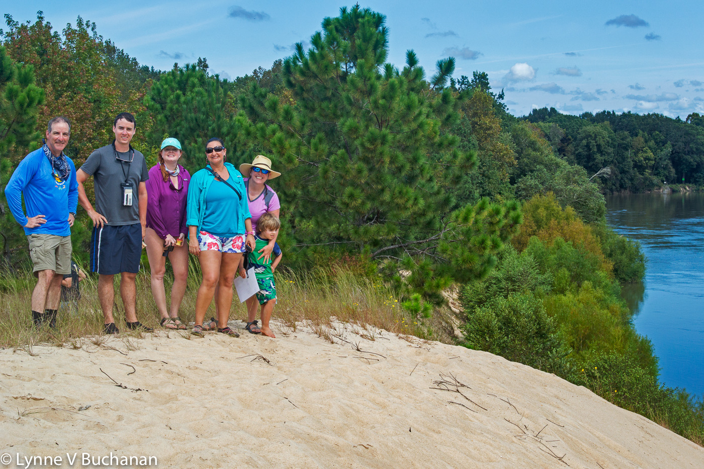 Part of the Gang on Sand Mountain, Apalchicola River