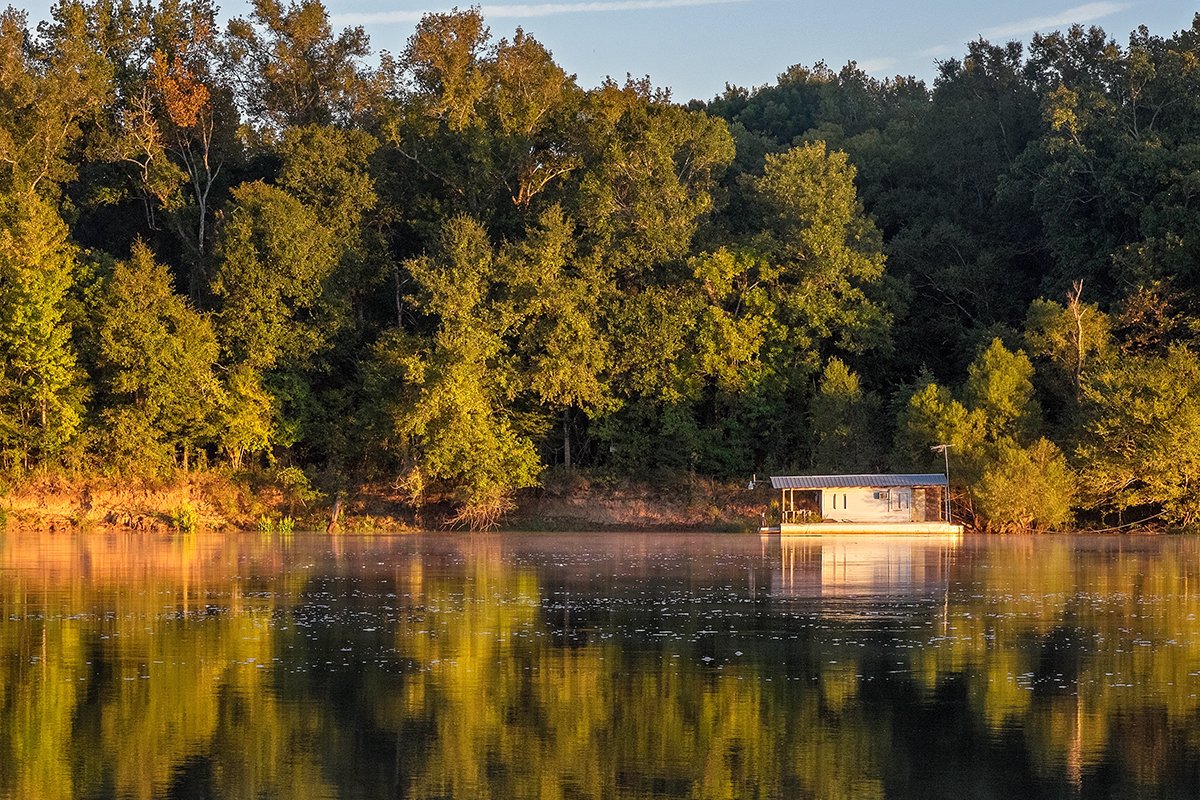 Apalachicola Floating House in the Early Morning Light