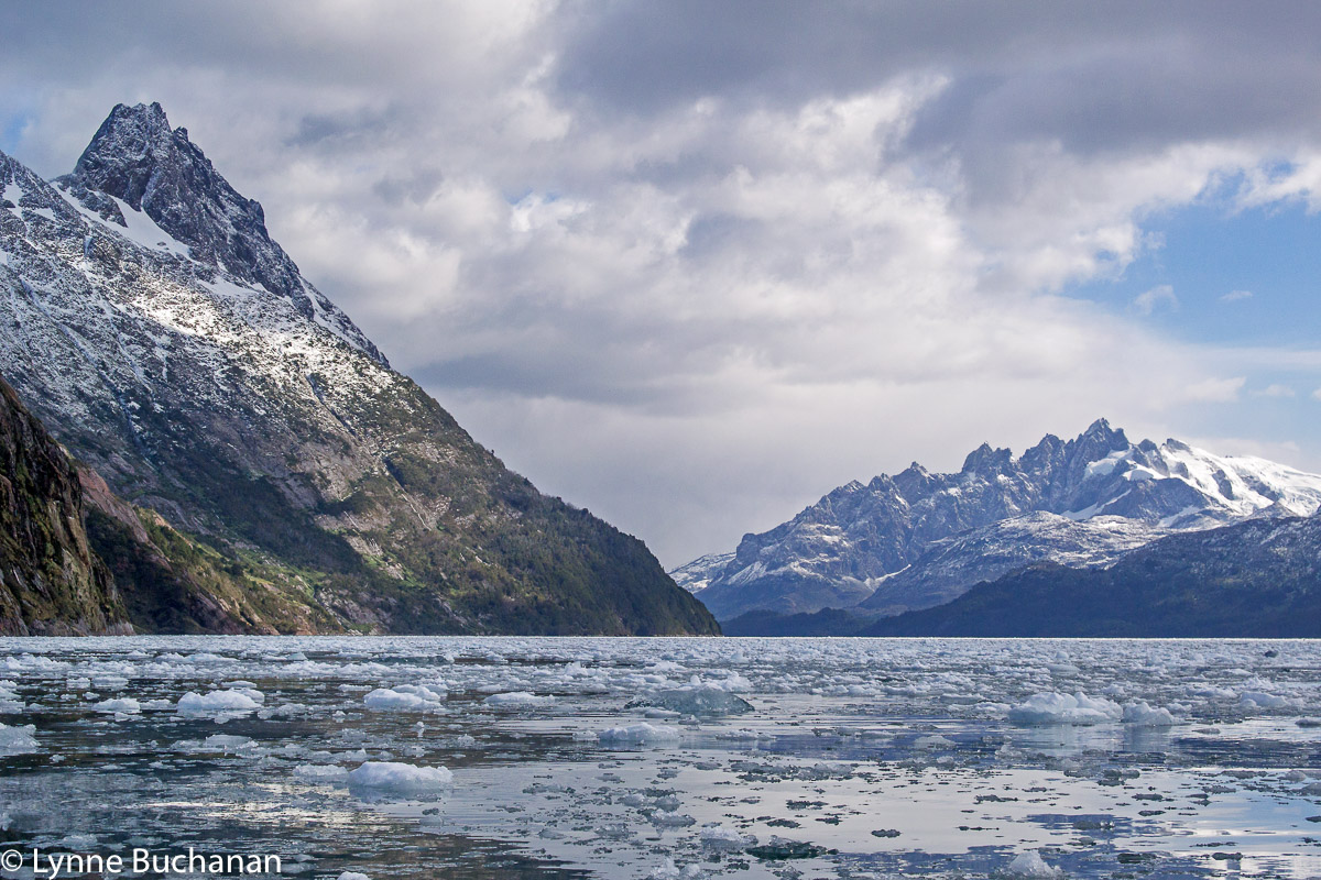 Kayaking in the Agostini Fjord