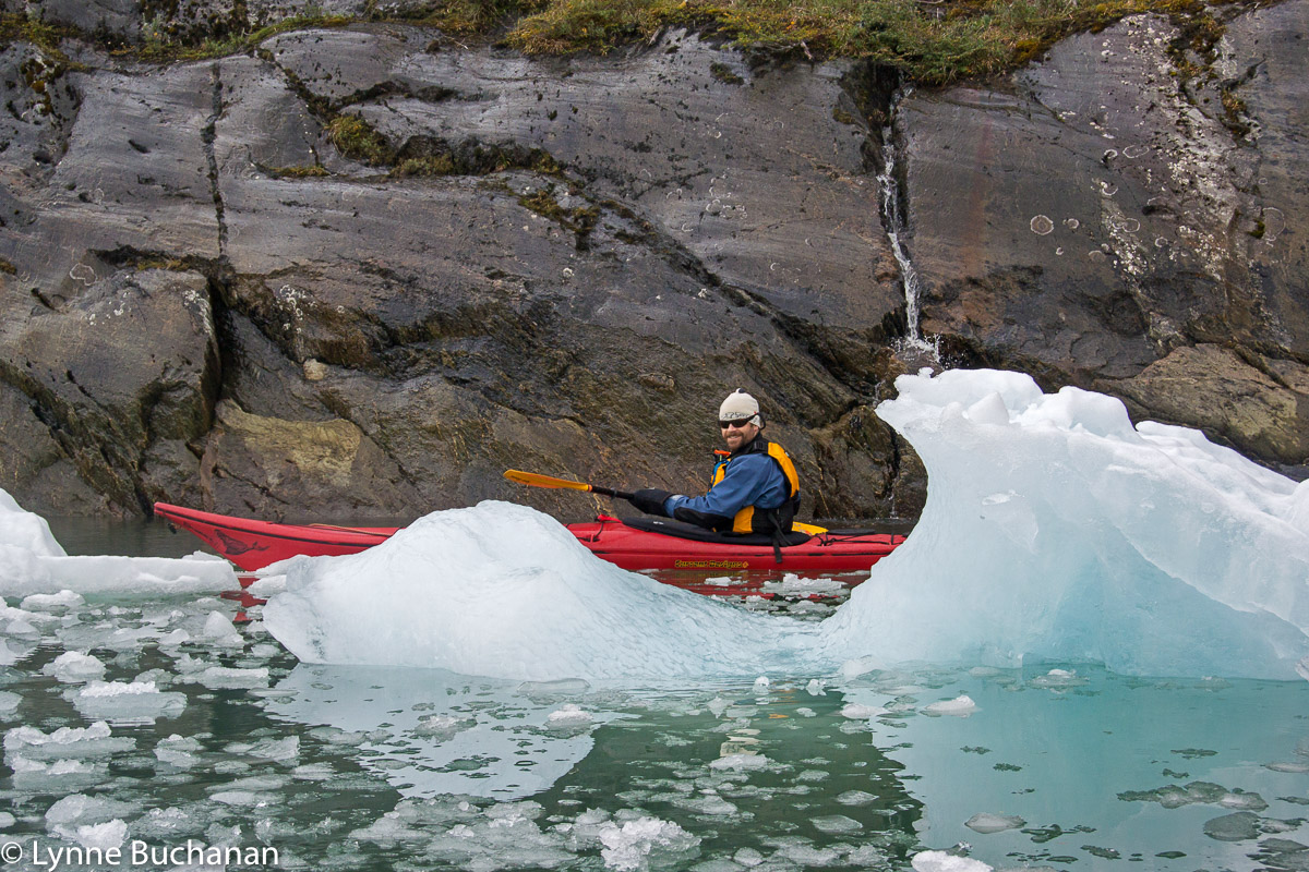 Our Guide, Mark Dalpes, Kayaking Among the Ice