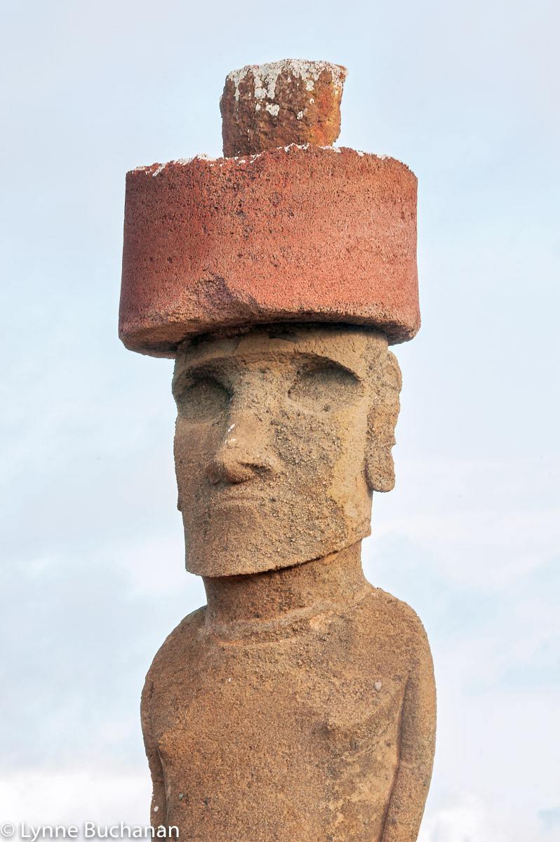 Moai with Pukao, Anakena Beach