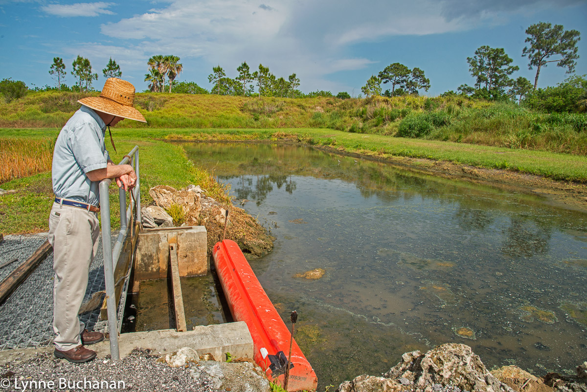 Keith McCully Overseeing Where the Water is Released