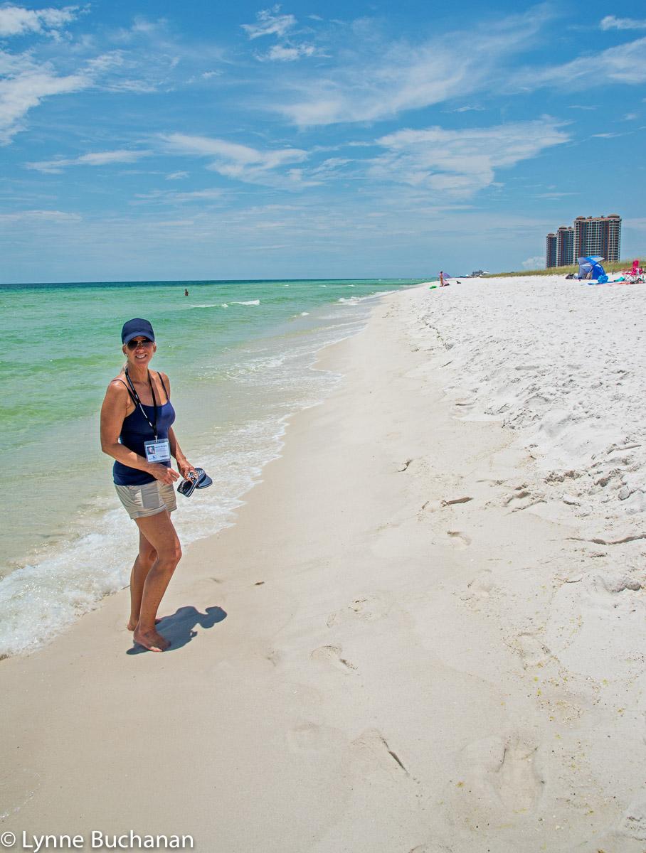 Laurie Murphy Watching over Pensacola Beach