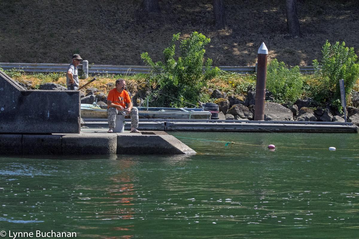 Fishing at Cascade Locks