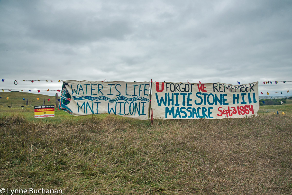 Banner to the Right of the Second Digging Site