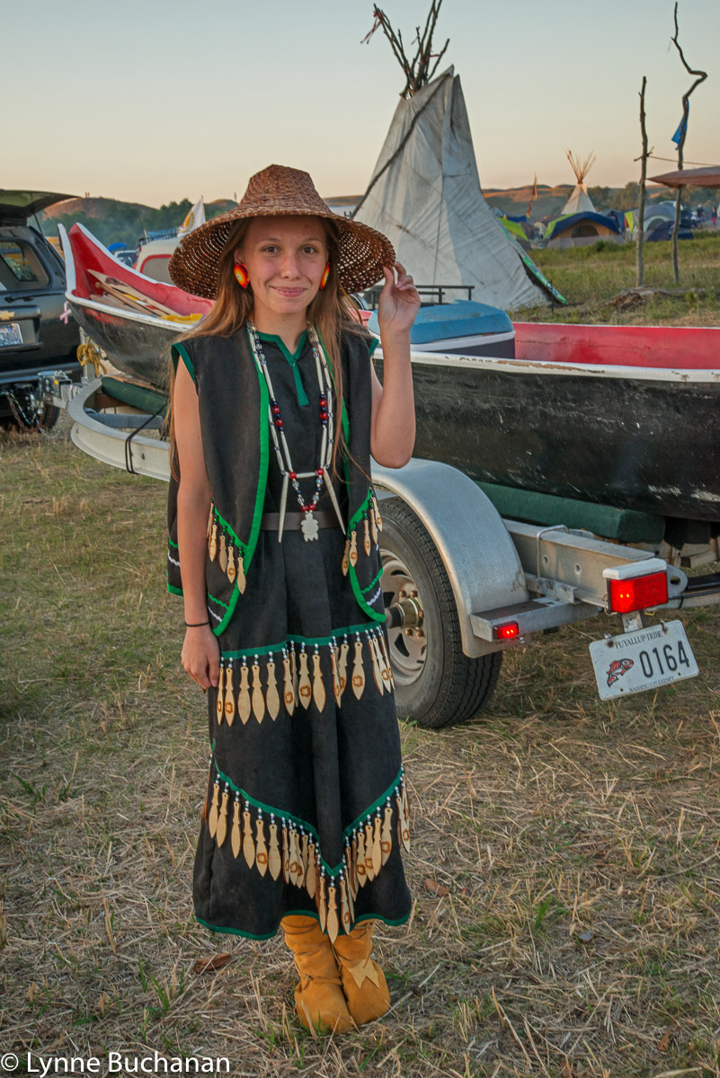 Nisqually Young Lady with Paddle Dress