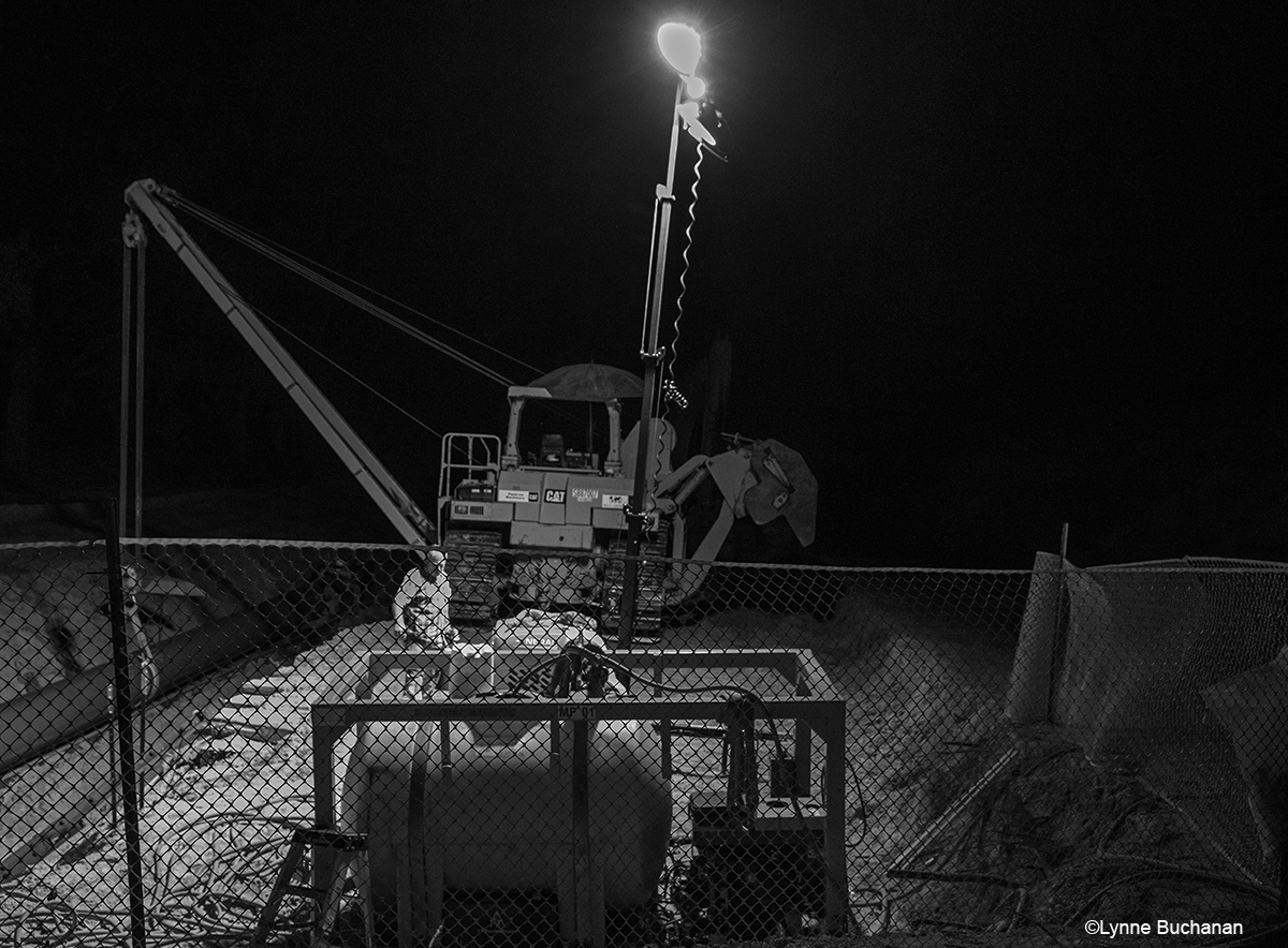 A Long Day Ends in Darkness for Workers on the Sabal Trail Pipeline