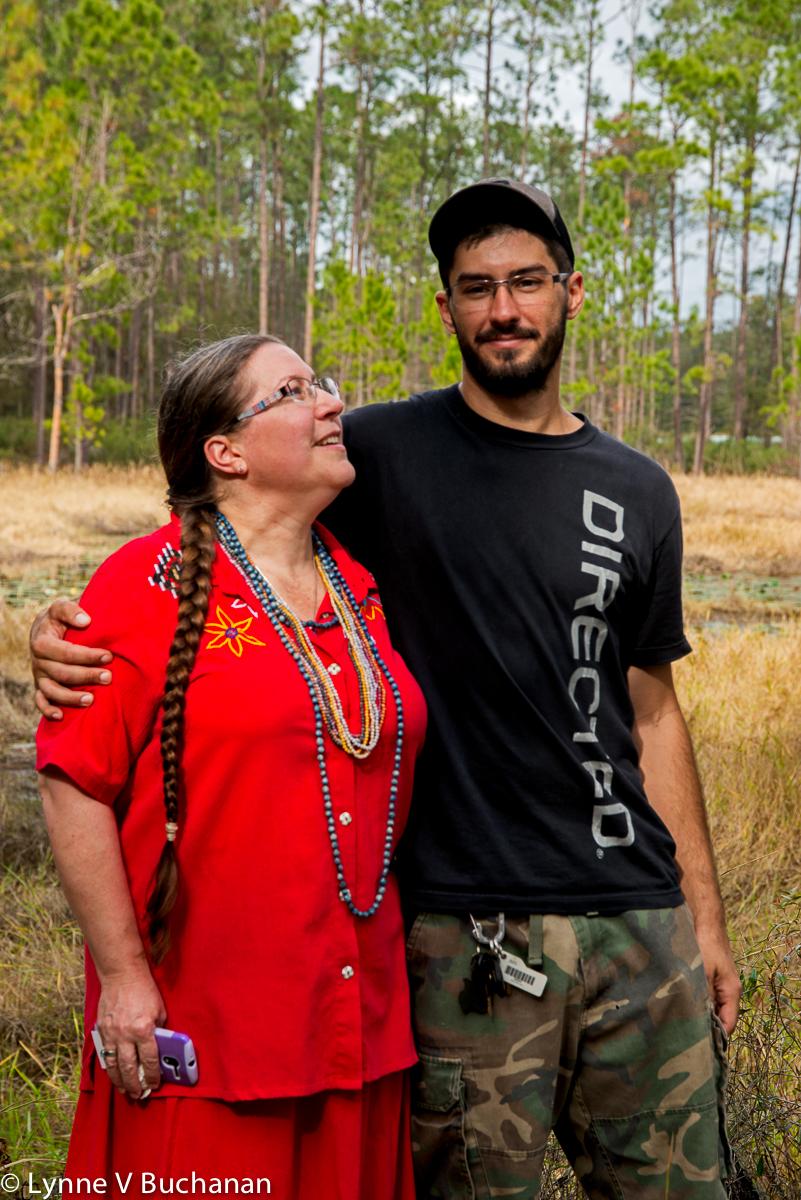 Tina Elmore-Wright and her son Patrick Kelly