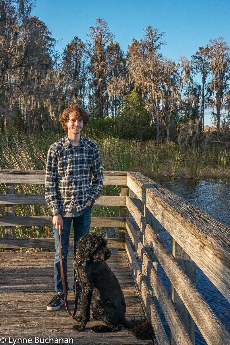 Thomas and Takoda Enjoying Dixie Lake