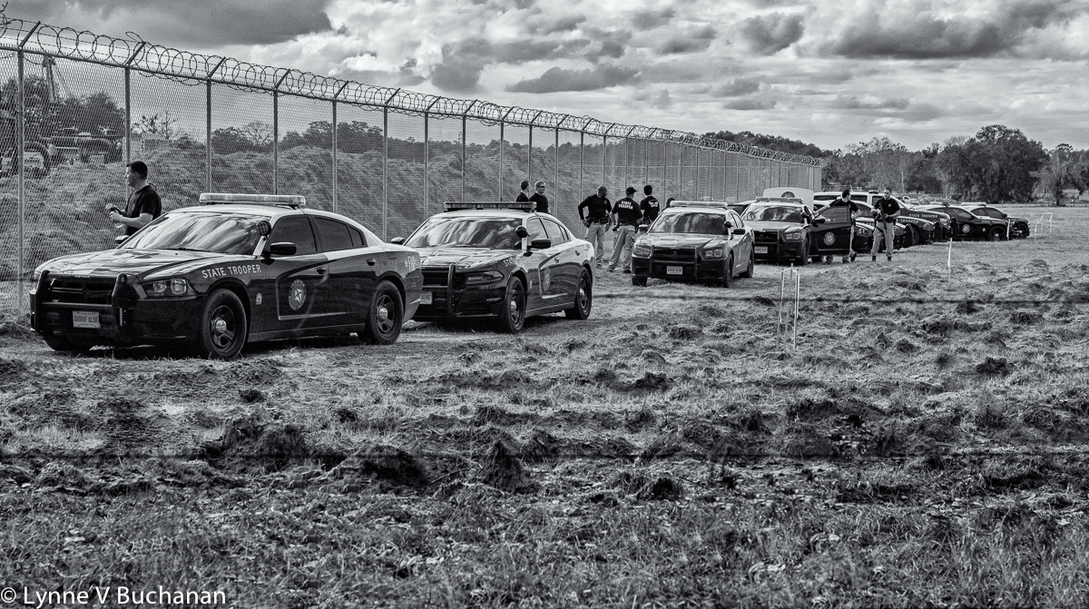 Line of State Troopers