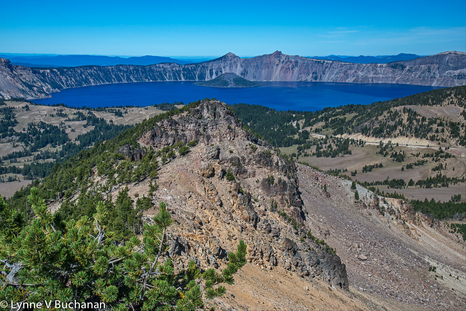 Crater Lake from Scott Mountain