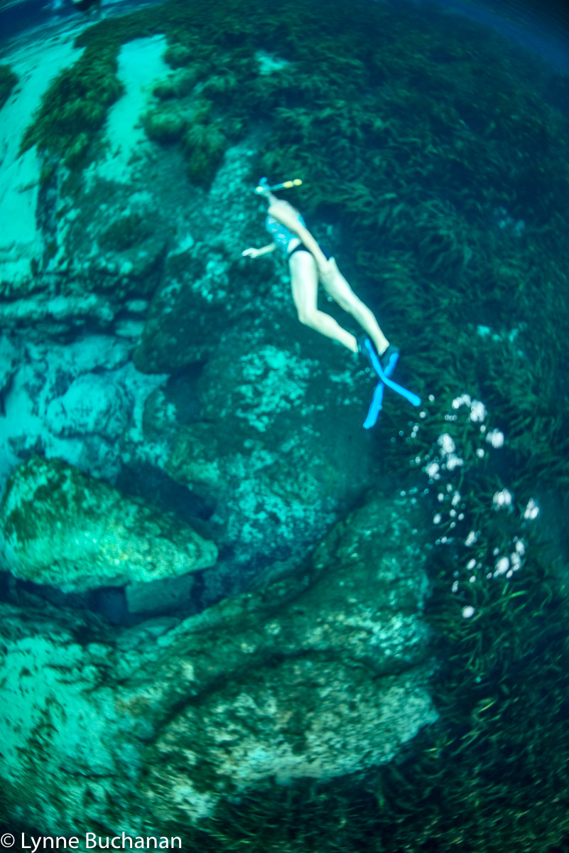 Margaret Swimming over Cracks in the earth
